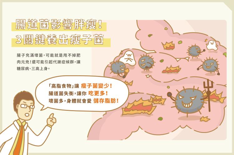 01_腸道菌影響胖瘦 3關鍵養出瘦子菌