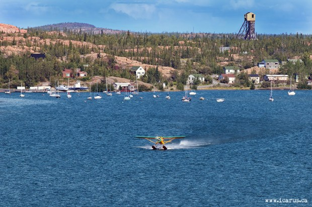 Norseman take-off at Back Bay in Yellowknife