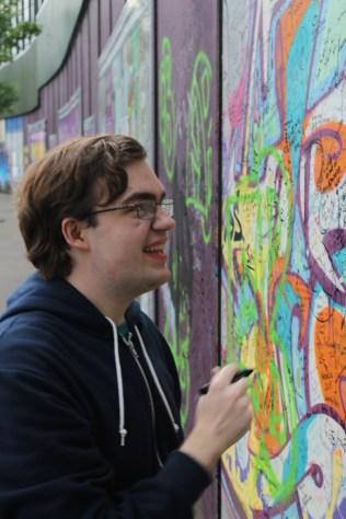 Adam doing some illegal vandalizing