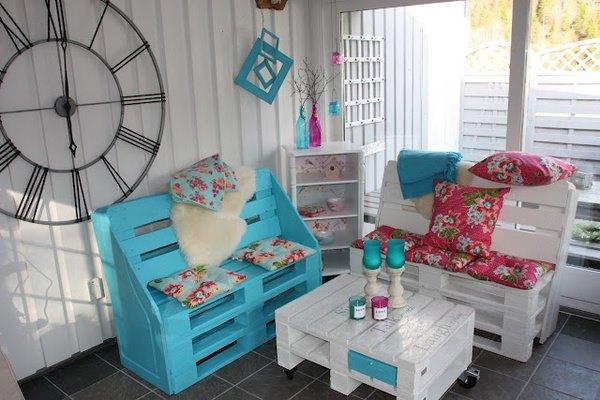 muebles hechos con palets, banco hecho con palets
