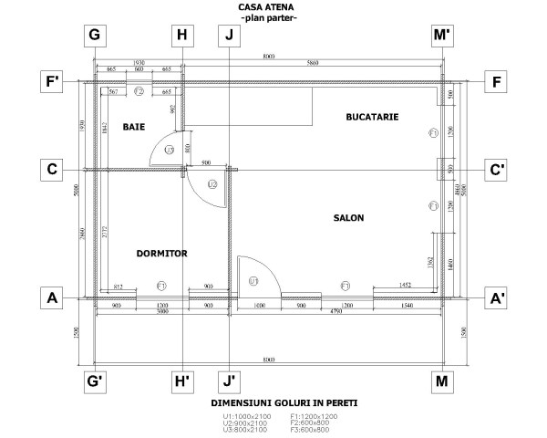 Plano planta casa 96 m