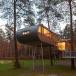 sostenibilidad, casa en el arbol por Baumraum