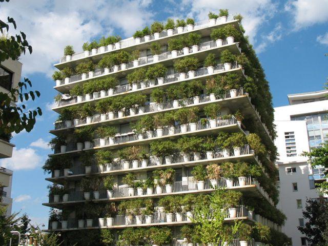 Jardines verticales impresionantes: the flower power, París, Francia