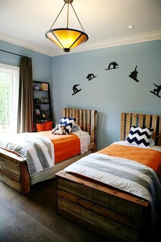 camas de palets con cabecero