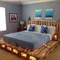 camas de palets con luces por debajo