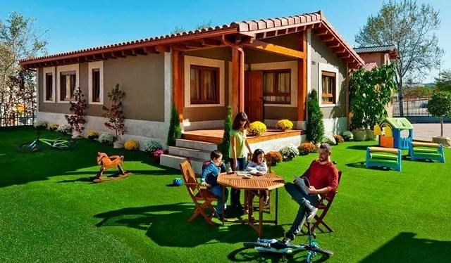 En la imagen: casa prefabricada de hormigón