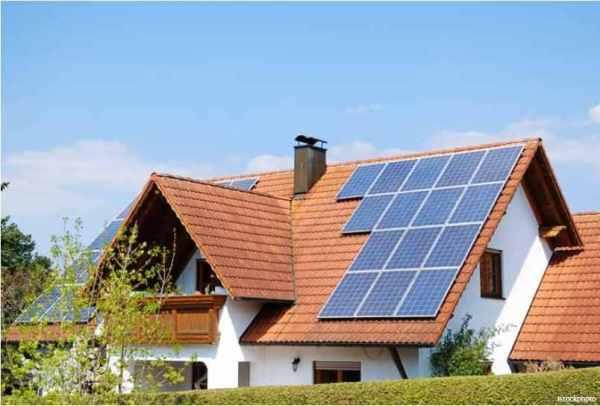 calefacción solar en casa