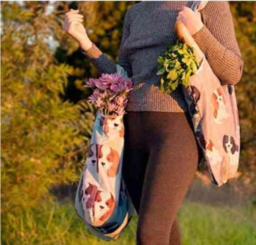 bolsas reutilizables de poliéster reciclado para la compra