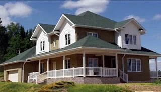 casa de estructura de madera.