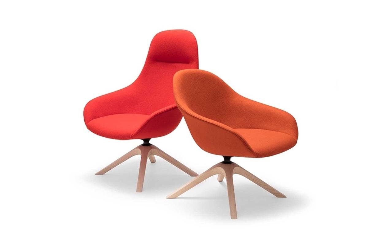 Butaca Next Lounge, diseño de Piergiorgio Cazzaniga para Andreu World en Icaza Bilbao