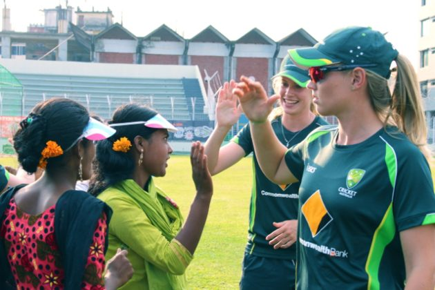 Australia Women's Cricket Team takes part in WASH United event