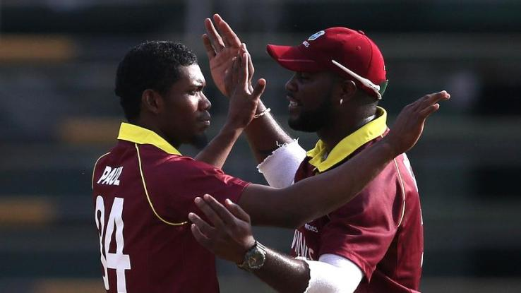 Keemo Paul (L) was impressive in the game against Afghanistan