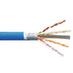 ICC 650Mhz CAT6A Bulk Cable with FTP and CMR Blue Copper Premise Cable ICCABR6FBL