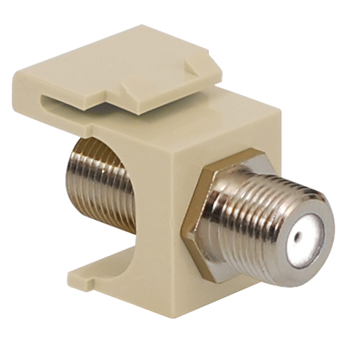 F-Type Modular Jack with 2 GHz Nickel Plated Connector in HD Style
