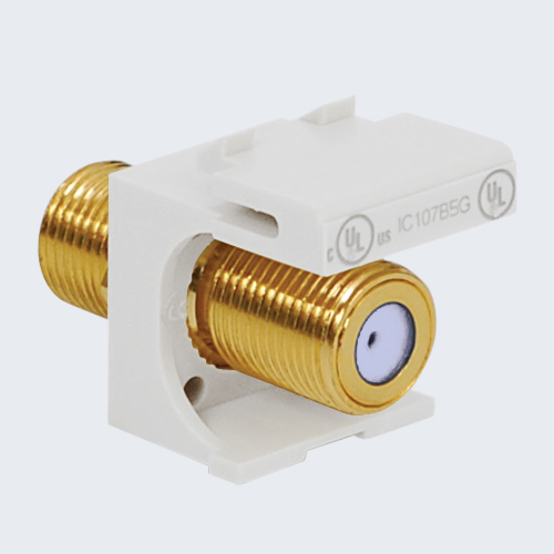 F-Type Modular Jack with 2 GHz Gold Plated Connector in HD Style