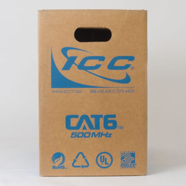 CAT6 Bulk Cable UTP Plenum Back ICCABP6VBL