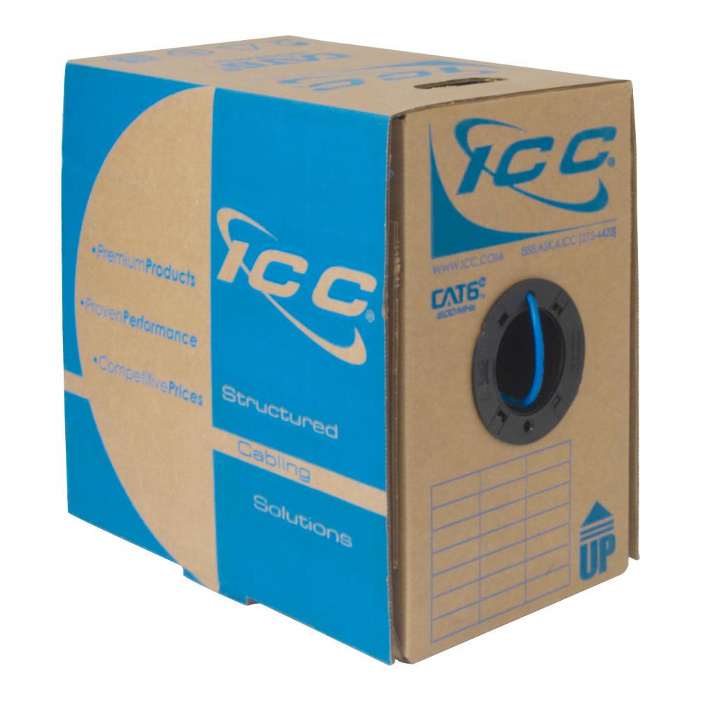 CAT6e Bulk Cable UTP Plenum ICCABP6EBL
