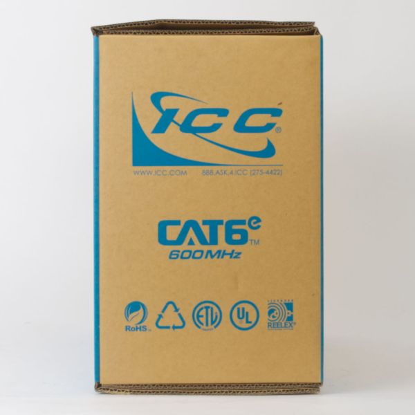CAT6e Bulk Cable UTP Riser Back ICCABR6EBL