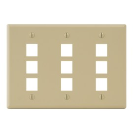 Classic Faceplate 9-Ports Triple Gang IC107FT9IV