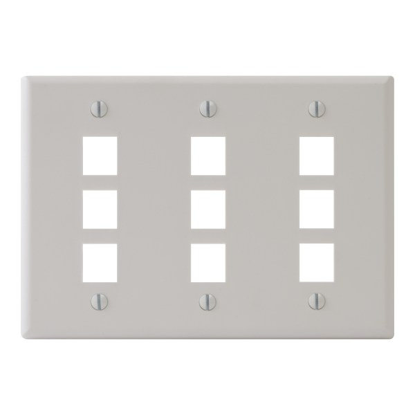 Classic Faceplate 9-Ports Triple Gang IC107FT9WH