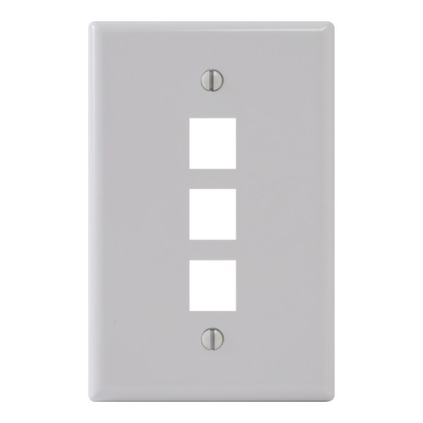 Classic Oversized Faceplate 3 Port IC107LF3WH