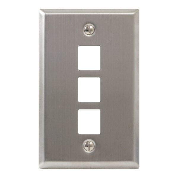 Classic Stainless Steel Faceplate 3 Port IC107SF3SS