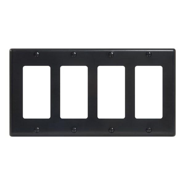 Decorex Faceplate 4 Insert Quad Gang IC107DFQBK