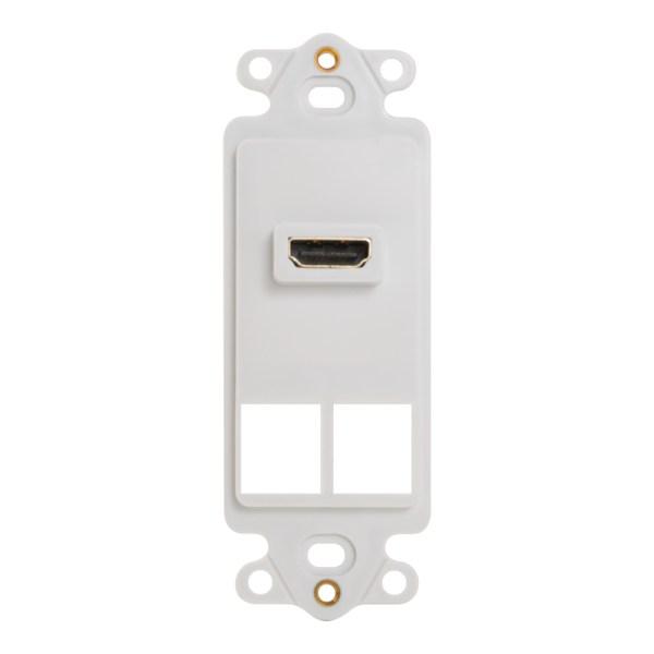 Decorex Insert 1 HDMI 2 Ports IC107DH2WH