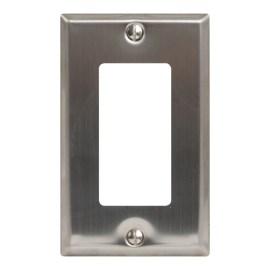 Decorex Stainless Steel Faceplate 1 Insert IC107DFSSS