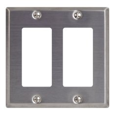 Decorex Stainless Steel Faceplate 2 Insert IC107DFDSS