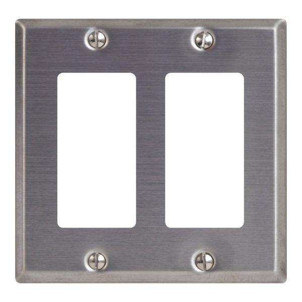 Decorex Stainless Steel Faceplate 2 Insert IC107DFDSS