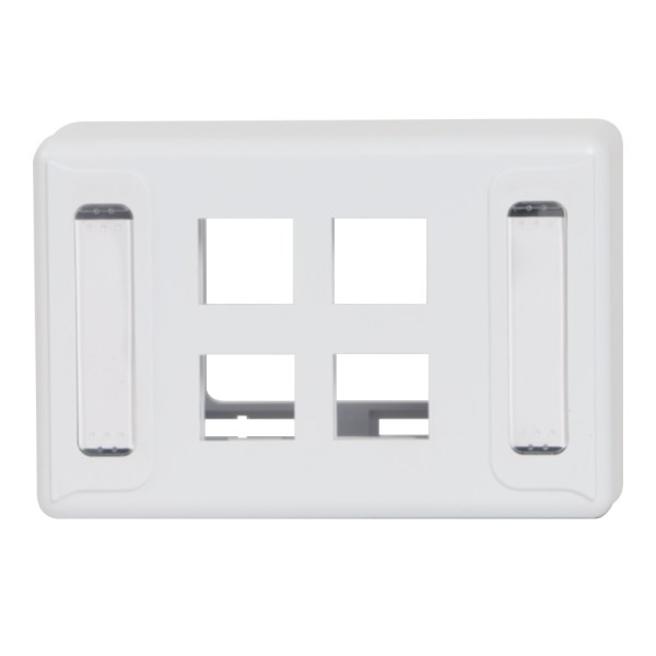 Furniture Universal Faceplate 4 Ports IC108UF4WH