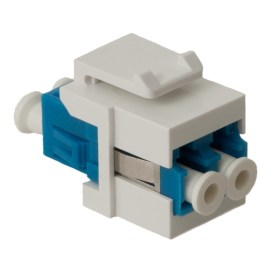 LC Fiber Optic Keystone Coupler with Ceramic Sleeves and Duplex Ports IC107LC2WH