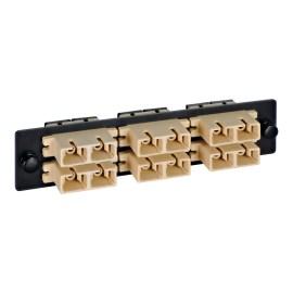 LGX Adapter Panel 6 Duplex SC Beige ICFOPC16BK