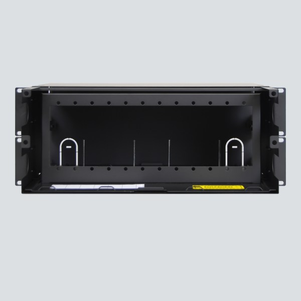 LGX Fiber Optic Rack Mount Enclosure 12 Panels 4 RMS Front ICFORET4RM