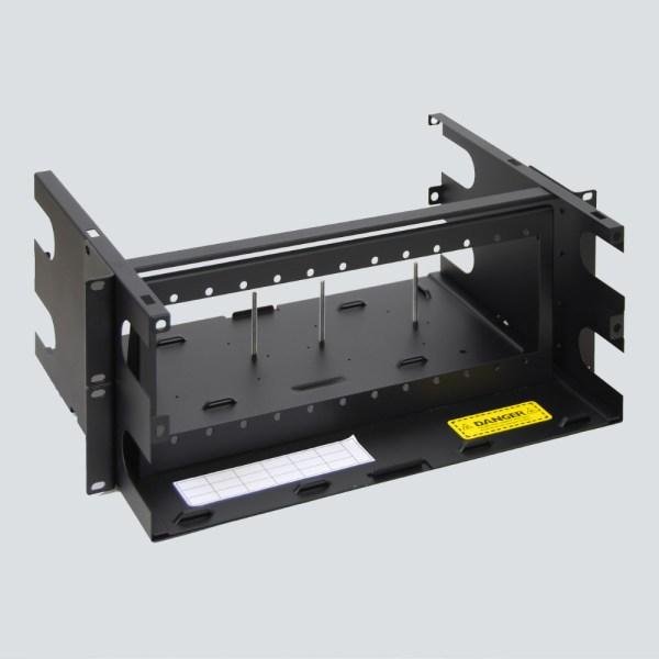 LGX Fiber Optic Rack Mount Enclosure 12 Panels 4 RMS Overhead No Cover ICFORET4RM