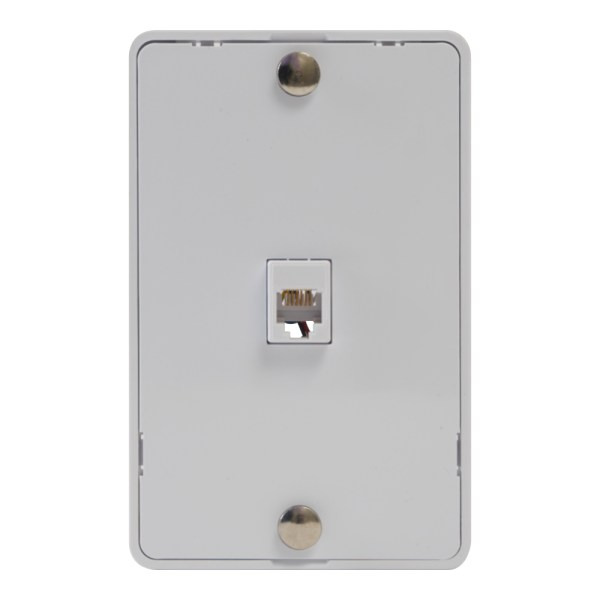 Telephone Faceplate 6P6C IC630DB6WH