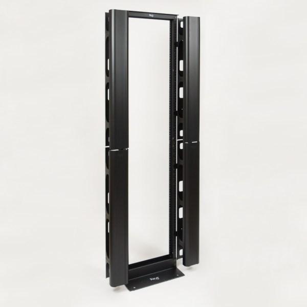 Vertical Metal Channel 7 Foot Rack 2 Sets Mounted 2 ICCMSC40BK