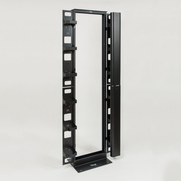 Vertical Metal Channel 7 Foot Rack 2 Sets Mounted ICCMSC40BK