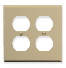 Electrical Faceplate with 4 Ports in Double Gang