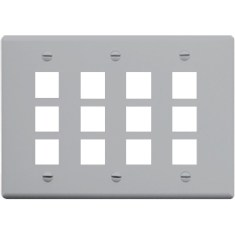 Classic Faceplate with 12 Ports for EZ/HD Style in Triple Gang