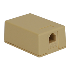 Surface Mount Box Keystone Jack with CAT 5e in 8P8C for EZ