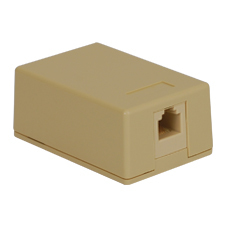 Surface Mount Box with 1 Voice in 6P6C for EZ