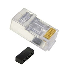 CAT 6 Solid/Stranded with Shielded Modular Plug and 100 Pack