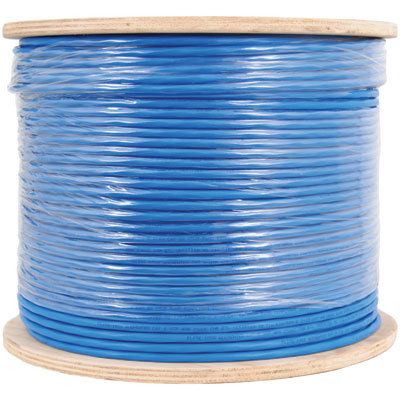 650Mhz CAT 6A Bulk Cable with FTP and CMR Blue Copper Premise Cable
