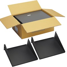 "15"" Deep Single Sided Rack Shelf with 3 RMS in 2 Pack"