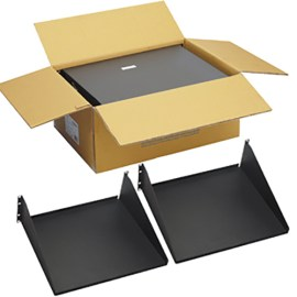 """15"""" Deep Single Sided Rack Shelf with 3 RMS in 2 Pack"""