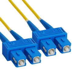 SC-SC Duplex Singlemode 9/125 (OS1) Fiber Optic Patch Cable in Yellow