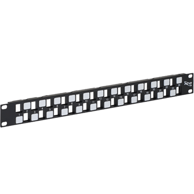Blank Patch Panel with 24 Ports EZ Style in 1 RMS
