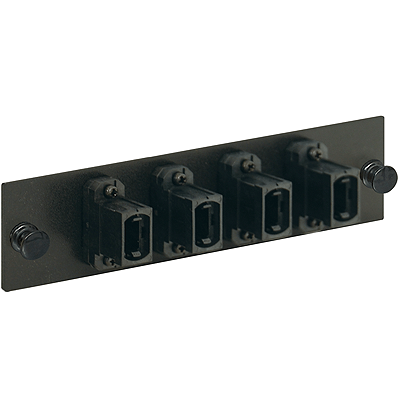 MPO-MPO Adapter Panel with Black 4 Ports